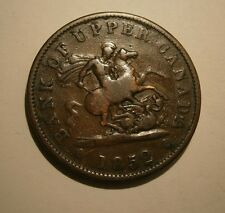 """1852 BANK OF UPPER CANADA ONE PENNY BANK TOKEN """"WE COMBINE SHIPPING""""  #17-264"""
