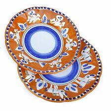 Vietri Servizio Piatti 2pz. in Ceramica Vietri 100% decorato a mano Arancione