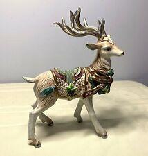 "New ListingFitz & Floyd Florentine 12"" White Stag Christmas Reindeer Deer Figurine"