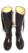 NWT 498 FRYE WOMEN VERONICA GRADUATED BUCKLED STRAP TALL ENGINEER LEATHER BOOTS