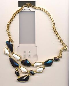 KENNETH LANE BLACK AND WHITE NECKLACE