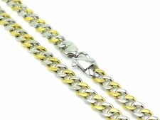 Cuban Link Gift 2-Tone Polished 80g Chain Necklace Stainless Steel Mens Curb