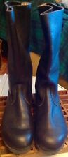 Vintage East German Military Officer Black Leather Motorcycl Boots Sz. 28 (9.5)