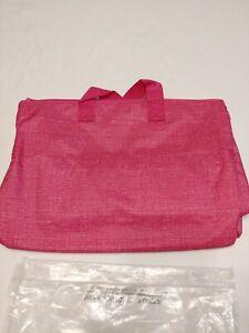 Thirty-One Super Swap-it Pocket Pink Crosshatch New
