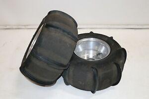 """SKAT TRAK 10"""" Sand paddle HAULER rear tires wheels rims Yamaha Banshee E-22"""
