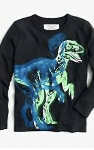 Crewcuts kid boy long sleeve graphic top tee shirt 3D Dinosaur Glow T-Rex Neon 8