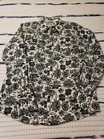 Ransom Ranch Men's White Floral Pearl Snap Western Shirt Size Large