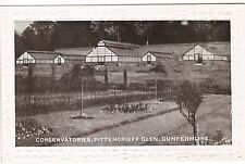 CONSERVATORIES, PITTENCRIEFF GLEN, DUNFERMLINE, ANTIQUE POSTCARD, PHILCO SERIES.