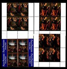 VATICANO - 1999 - Natale in quartina angolo di foglio inferiore MNH
