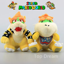 2X Super Mario Bros Plush Bowser King Koopa & Baby Bowser JR Soft Toy Doll 7""