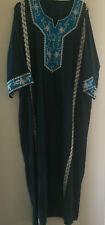 NEW Ladies Moroccan Kaftan Dress - Dark Emerald & Blue Sequin – Size: M/L