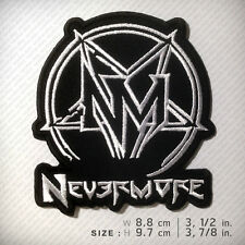 NEVERMORE EMBROIDERED PATCH CROWBAR ANTHRAX PANTERA BIOHAZARD D.I.Y Accessories