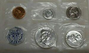 1958 US Mint Silver Proof Set - 5 Gem Proof Coins in OGP with Envelope