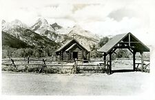 Postcard Rppc Grand Tetons National Park Church of the Transfiguration hf914