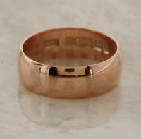 Edwardian Wedding Band Ring 9ct Rose Gold Size O