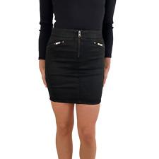 Diesel Skirt R-Yusra-T R46TA 900 Black Denim Zip W23; W24; W25; W26; W27 RRP110