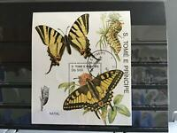 S.Tome E Principle Butterflies cancelled stamp sheet R25277