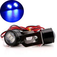 2x Blue Strobe Spotlight Motorcycle Headlight DRL Backup Driving Front Fog Light