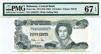 BAHAMAS 1/2 DOLLAR 1974 ND 1984 BAHAMAS CENTRAL BANK PICK 42 a  VALUE $320