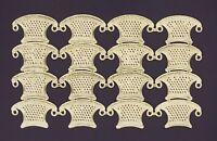 Alte gold geprägte Dresdner Pappe Ornamente Korb Körbe Wiege - DIE CUT SCRAPS
