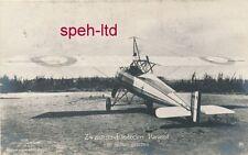 Originale Sanke Karte /   Flugzeug, ..Zweisitzer Eindecker Parasol von hinten