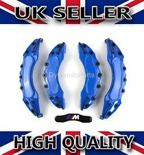 BRAKE CALIPER COVERS CAPS SET KIT FRONT AND REAR BLUE COLOUR ABS 4PCS