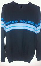 Vintage Polaris Sweater Men's Size (40)Medium Acrylic Black & Blue Snowmobile