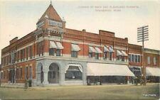 C-1910 Winnebago Minnesota Main Cleveland Street Schleuder postcard 2981