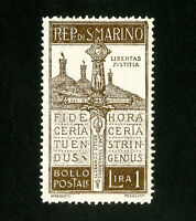 San Marino Stamps # 83 VF OG NH Catalog Value $60.00