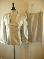 Womens 14 Jones Wear 2-Pc Skirt Dress Suit Shimmering Silver Mother of the Bride