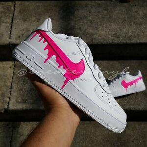 Nike Air Force 1 Low Top PINK Drip Custom NWT
