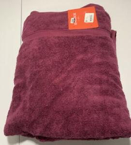 Opalhouse Perfectly Soft Bath Sheet 33 x 63  Beet Juice Towel