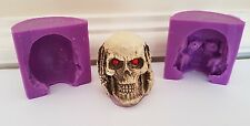 3D HEAR NO EVIL 6cm SKULL SILICONE MOULD FOR CHOCOLATE, CLAY, CANDLES ETC