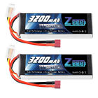 2x Zeee 3200mAh 3S 50C 11.1V Deans Lipo Battery for RC Car Helicopter Airplane