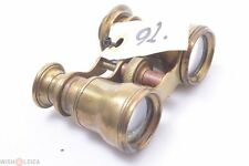 French,English? Antique Sextant Binoculars All Brass Small Size Double Telescope