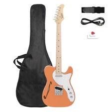Gtl Semi-Hollow Electric Guitar F Hole Ss Pickups Maple Fingerboard Orange-red