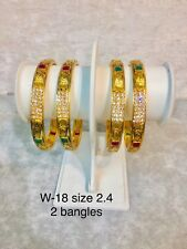 Bollywood Diamonte Multi Stone Wedding Style Bangles Kangan Uk Seller Fast Deliv