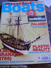 MODEL BOATS OCTOBER 2005 PALADIN FRIGATE PLAN HM GRANADO LADY OF MANN CHANTRY MC