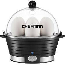 Egg Genie Electric Egg Cooker Cuisinart Dash Sunbeam Oster Hard Boiled Black New