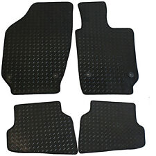 For Volkswagen VW Polo MK5 2009-2017 Tailored 4 Piece Rubber Car Mats 4 Clips