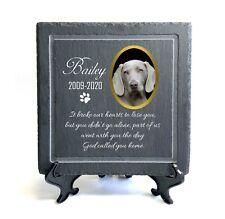 Personalised Pet Memorial Plaque Large 20x20 cm Slate Stone Grave Marker 2020