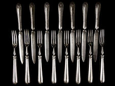 c1936 Union Castle Shipping Line Silver Plated Fork & Knife Set