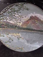 """Vintage Royal Doulton Vermilion Lake And Mount Rundle Collector Plate 10 1/4"""""""