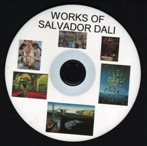 WORKS OF SALVADOR DALI,1800+ PHOTO IMAGES PAINTING, SURREALISM , FANTASY ART CD