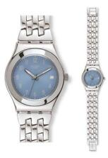 SWATCH IRONY Medio Follow Ways azul claro yls439g Análogo Acero Inoxidable Plata