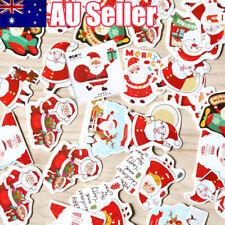 144x Christmas Paper Adhesive Stickers Decal Gift Bag Box Decor Xmas Santa Claus