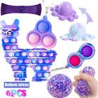 6 Pack Fidget Figit Toys Bubble Set Cube Game ADHD Stress Relief Tools Bundle UK