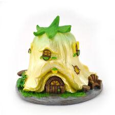 Miniature Dollhouse FAIRY GARDEN - Micro Flower House - Tulip - Yellow