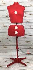 Singer 12 Dial Seamstress Mannequin Adjustable Professional Dressmaker Stand Red