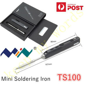 TS100 Mini Portable Digital OLED Soldering Iron Kit PR-B2 Tip Interface DC5525